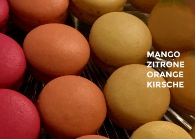 Macarons Mango Zitrone